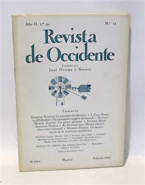 REVISTA DE OCCIDENTE - No. 11 - Año II - Segunda Época