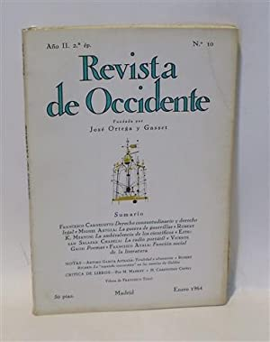 REVISTA DE OCCIDENTE - No. 10 - Año II - Segunda Época
