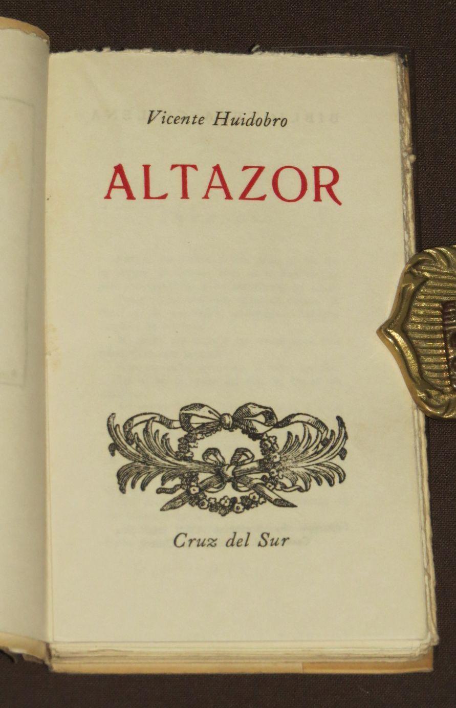 Altazor de Huidobro, Vicente: Cruz Del Sur, Santiago De Chile ...