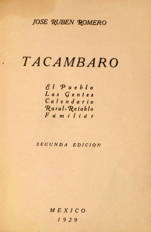 Calendario 1929.Tacambaro El Pueblo Las Gentes Calendario