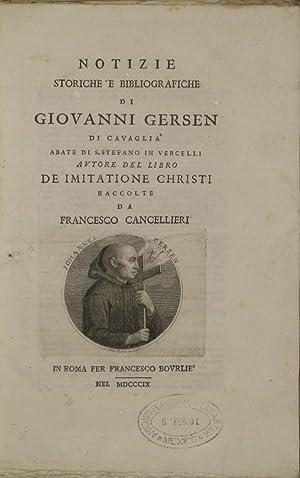 Notizie Storiche e Bibliografiche di Giovanni Gersen: Cancellieri, Francesco