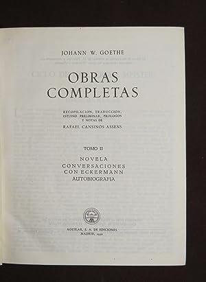 Obras Completas. Tomo II: Goethe, Johann W.