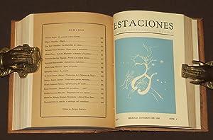 Estaciones. Revista Literaria De México. Año I.: Nandino, Elias /