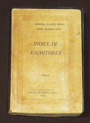 Indice De Escritores: Velazquez Bringas, Esperanza