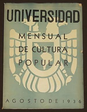 Universidad. Mensual De Cultura Popular. Tomo II.: Heliodoro Valle, Jose