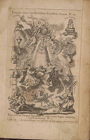 Letania Lauretana de la Virgen Santissima expressada en cincuenta y ocho estampas e ilustrada con ...