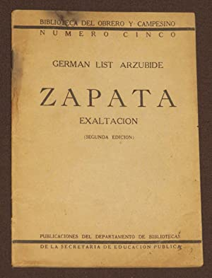 Zapata Exaltacion: List Arzubide, German