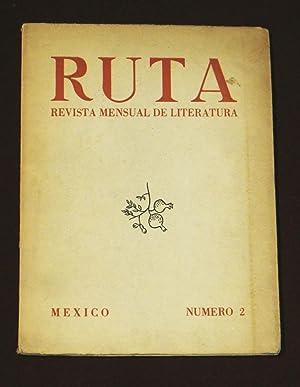 Ruta Revista Mensual De Literatura, No. 2,: Abreu Gomez, Ermilo