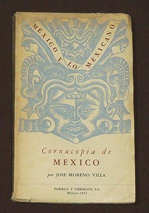 Cornucopia De Mexico: Moreno Villa, Jose