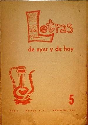 Letras De Ayer y De Hoy. Año: Arellano, Jesus, José