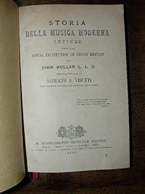 Storia della musica moderna. Letture fatte alla Royal Institution of Great Britain da John Hullah...