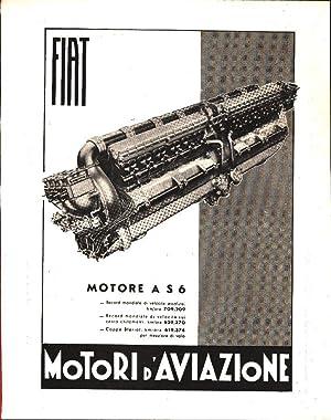 FIAT Motori d'Aviazione - Pubblicità 1936