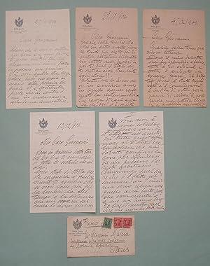 Autograph correspondence signed. Monkey House Trial. Corrispondenza: CARUSO Enrico. 1873