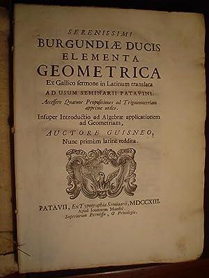 Elementa geometrica ex Gallico sermone in Latinum: GUISNEUS.