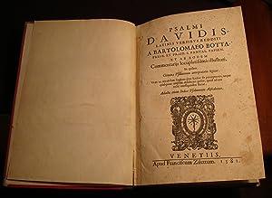 Psalmi Davidis Latinis versibus redditi.: BOTTA Bartolomaues.