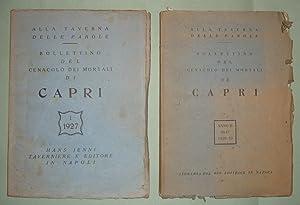 CAPRI. Alla Taverna delle Parole. Bollettino del Cenacolo dei Mortali di Capri.
