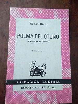 poema del otono y otros poemas: Rubén Darío