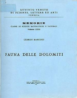 Fauna delle Dolomiti. Memoria presentata dal m.e.: Marcuzzi Giorgio
