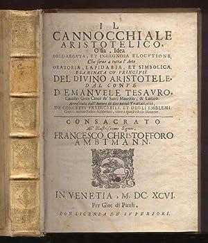 Il cannocchiale aristotelico, o sia, idea dell'arguta,: Tesauro, Emanuele