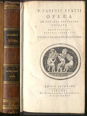 P. Papinii Statii Opera ad optimas editiones: Publio Papinio Stazio