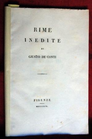 RIME INEDITE CONTI GIUSTO (DE)