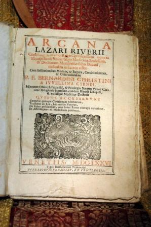 ARCANA, CUM ISTITUTIONIBUS MEDICIS ET REGULIS: RIVERIUS LAZARUS