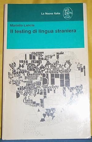 Il Testing Di Lingua Straniera: Lancia, Mariella