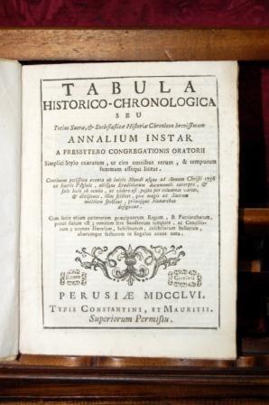 Tabula Historico-Chronologica Seu Totius Sacrae et Ecclesiasticae: BERLINGHIERI FRANCESCO