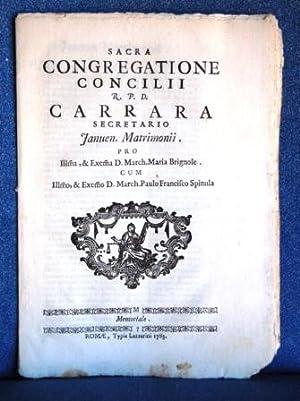Sacra Congregatione. Concilii R. P. D. Carrara
