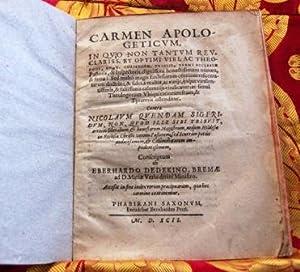 Carmen apologeticum in quo non tantum rev.: Dedekinus Eberhardus