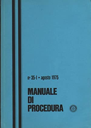 manuale massoneria MANUALE DI PROCEDURA