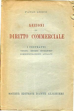 Lezioni di Diritto commerciale - I contratti: Paolo Greco