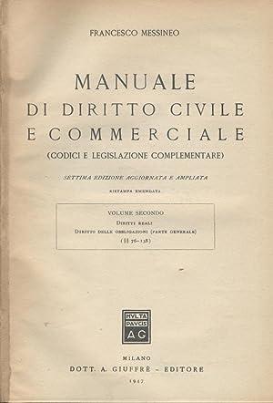 MANUALE DI DIRITTO CIVILE E COMMERCIALE.II-Diritto delle: Francesco Messineo