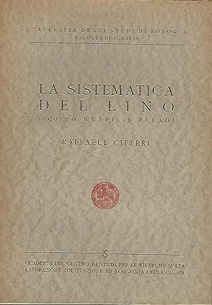 LA SISTEMATICA DEL LINO SECONDO WULFF ED: Raffaele Ciferri