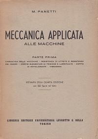 Meccanica applicata alle macchine: M. Panetti