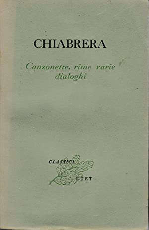 Canzonette, rime varie, dialoghi