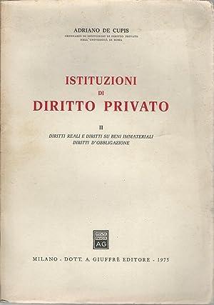 ISTITUZIONI DI DIRITTO PRIVATO. II: Adriano De Cupis