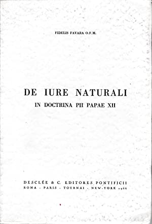 De iure naturali in doctrina PII Papae XII