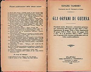 Gli orfani di guerra: I. Tambaro