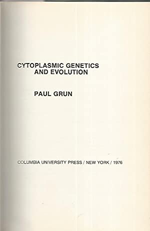 Cytoplasmic Genetics and Evolution