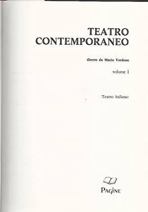 Teatro contemporaneo. Volume 1. Teatro italiano