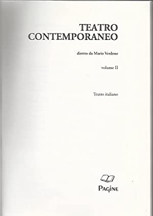 Teatro contemporaneo. Volume 2. Teatro italiano