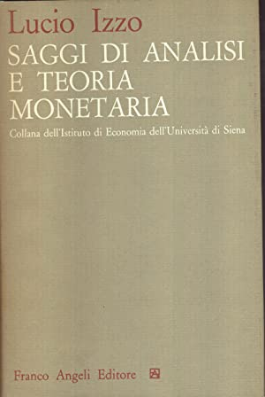 Saggi di analisi e teoria monetaria