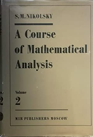 A Course of Mathematical Analysis. Vol. 2