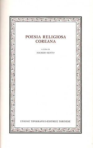 Poesia religiosa coreana: Maurizio Riotto (a