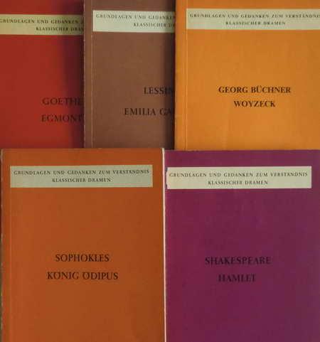 5 Hefte Grundlagen und Gedanken zum Verständnis: Shakespeare / Sophokles