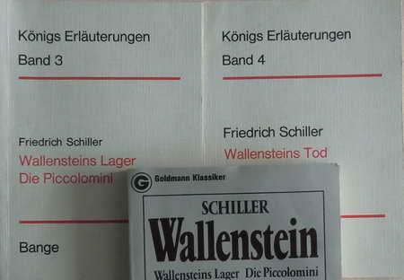3 Bücher: Wallenstein. Wallensteins Lager. Die Piccolomini.: Schiller, Friedrich /
