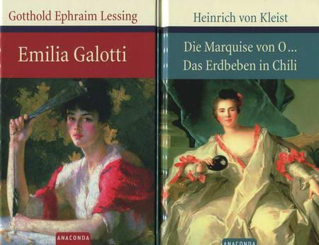 2 Bücher: Emilia Galotti / Die Marquise: Lessing, Gotthold Ephraim