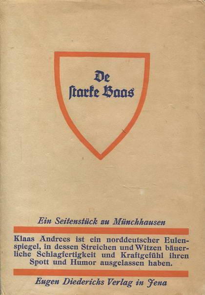 De starke Baas. Ein Seitenstück zu Münchhausen: Kruse, Johann