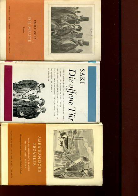 3 Bücher: Die offene Tür / Die: Saki / Zola,